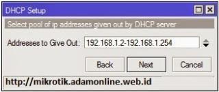 dhcp server mikrotik 4 Setting MikroTik Sebagai DHCP Server