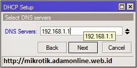 dhcp server mikrotik 5 Setting MikroTik Sebagai DHCP Server